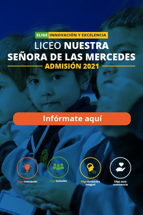 admisión 2021 liceo nuestra señora de las mercedes